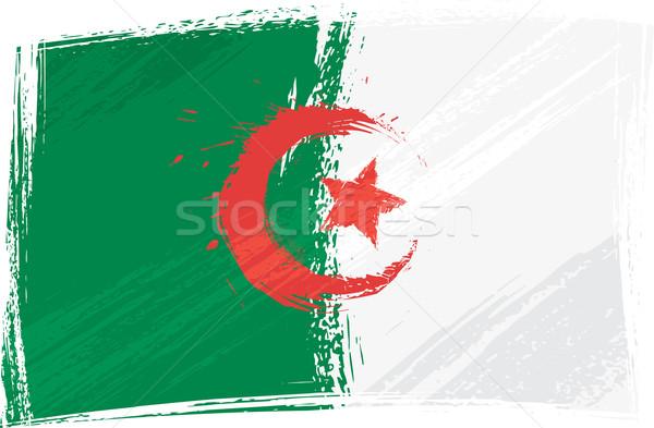 Grunge Algérie pavillon style vert Photo stock © oxygen64
