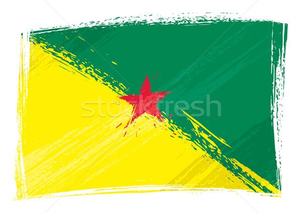 Grunge fransız bayrak stil Stok fotoğraf © oxygen64