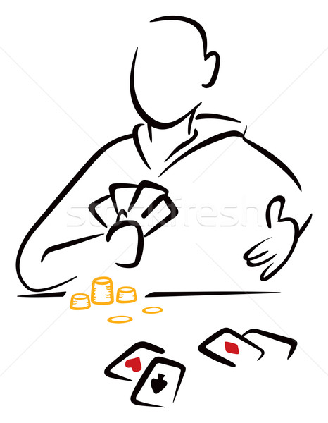 Gambler with cards Stock photo © oxygen64