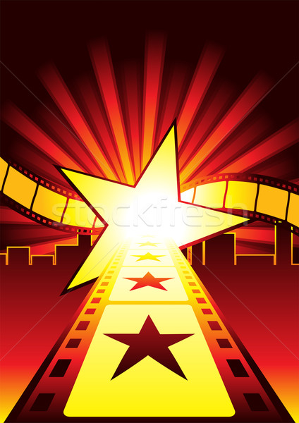 Carretera estrellas superestrella hollywood película fondo Foto stock © oxygen64
