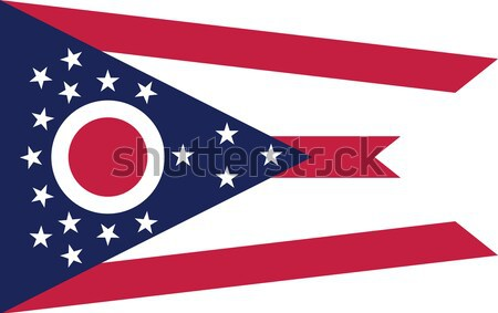 Ohio vlag vector Stockfoto © oxygen64