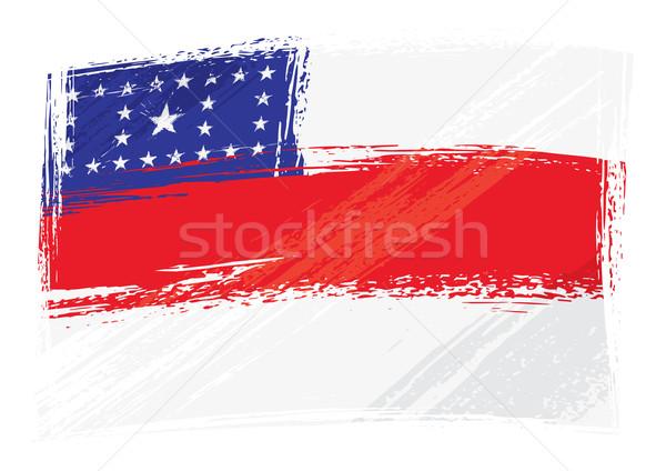 Grunge Amazonas flag Stock photo © oxygen64