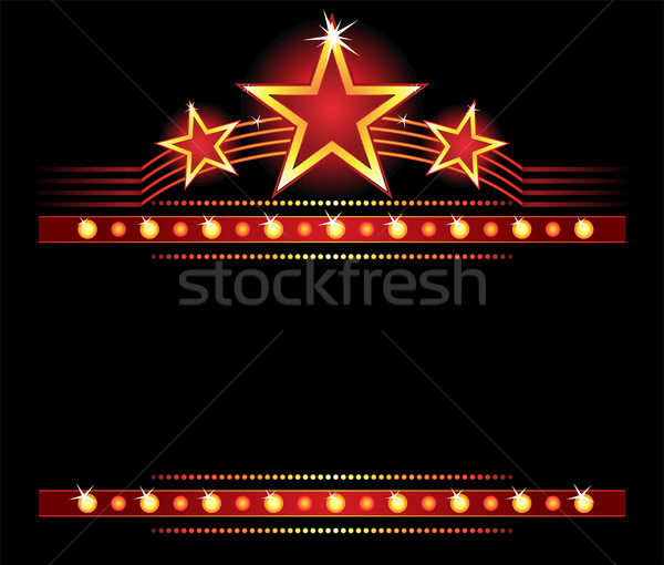 Stars over copyspace Stock photo © oxygen64