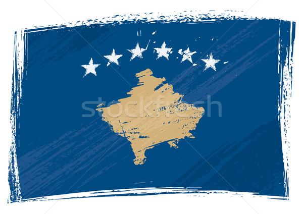 Grunge Kosovo flag Stock photo © oxygen64
