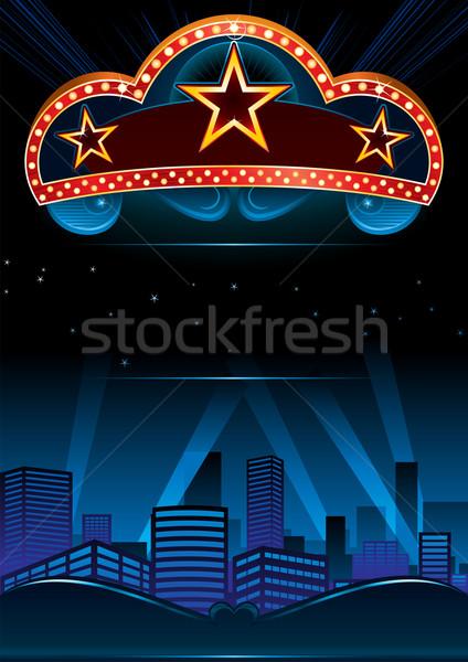 Première ontwerp groot entertainment show stad Stockfoto © oxygen64