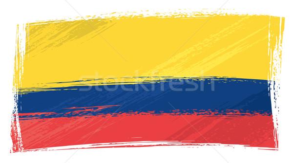 Grunge Ekvador bayrak stil Stok fotoğraf © oxygen64