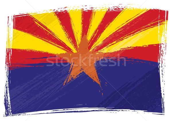 Grunge Arizona Flagge Stil Hintergrund Land Stock foto © oxygen64