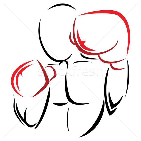 Symbol boxer Stock photo © oxygen64