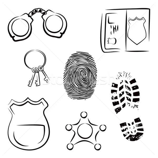 Investigation icons Stock photo © oxygen64