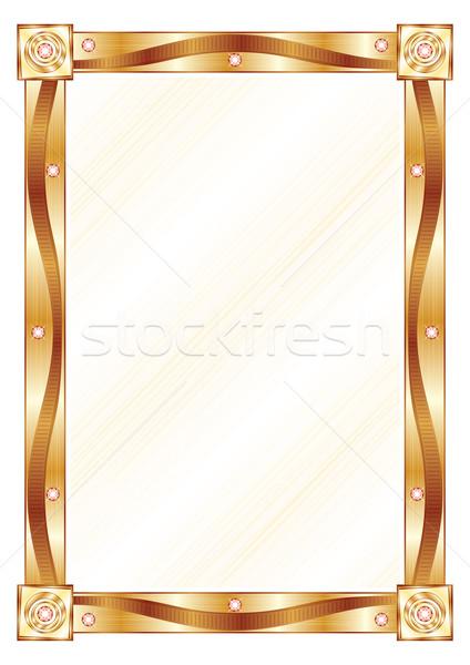 Altın çerçeve modern pahalı elmas dizayn Stok fotoğraf © oxygen64