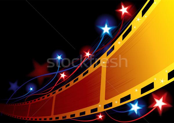 Sinema dizayn film projeksiyon sanat Stok fotoğraf © oxygen64