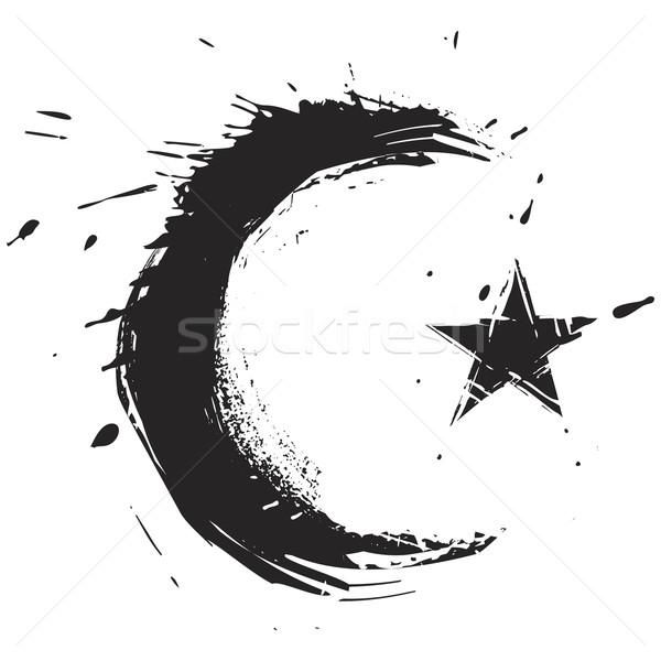 Ислам символ религии Гранж стиль Сток-фото © oxygen64
