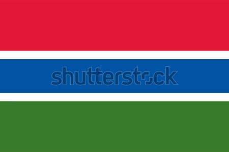 Gambia flag Stock photo © oxygen64