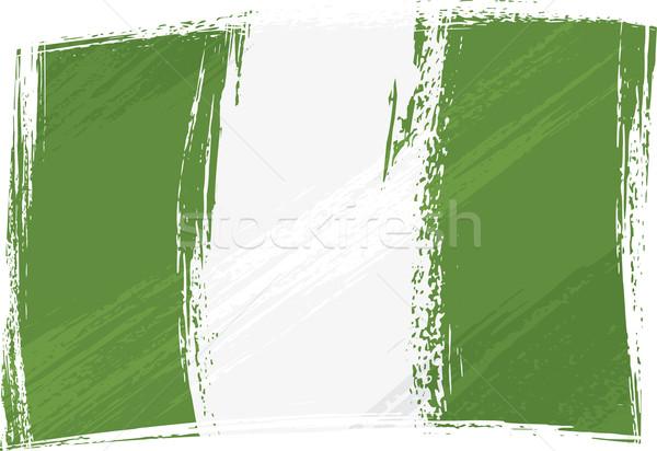 Grunge Nigeria banderą stylu Zdjęcia stock © oxygen64