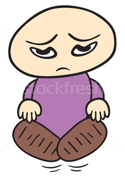 üzücü çocuk örnek küçük yüz karikatür Stok fotoğraf © oxygen64