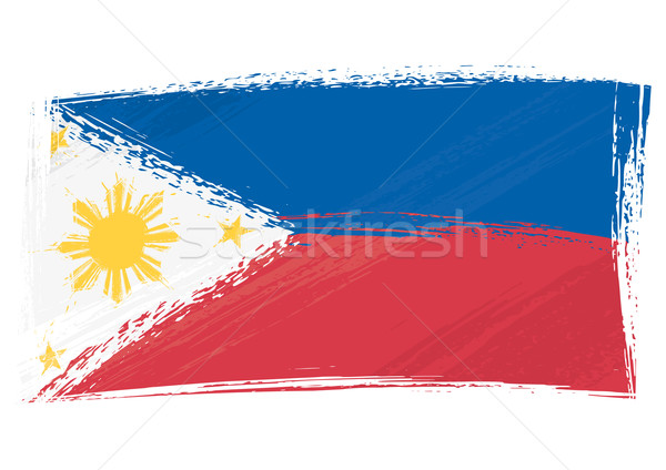 Grunge Philippines flag Stock photo © oxygen64