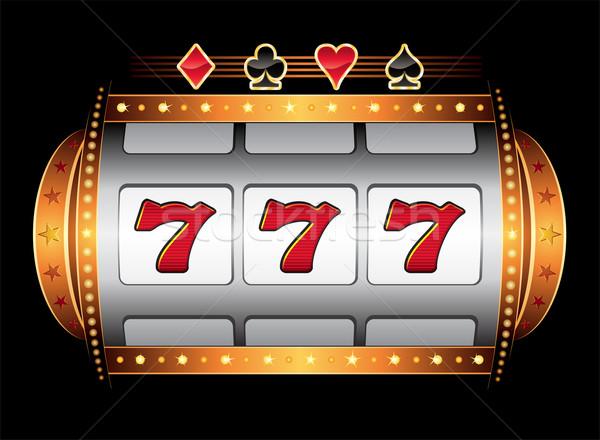 Casino machine goud een arm bandiet Stockfoto © oxygen64
