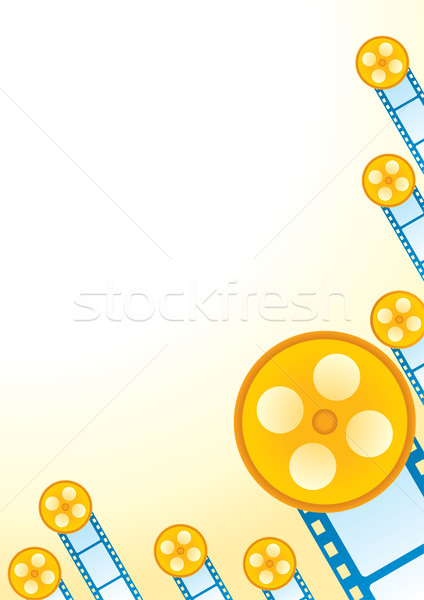 Retro film poster retro tarzı parçalar film Stok fotoğraf © oxygen64