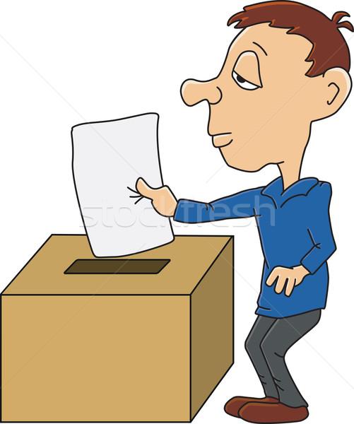 投票 ボックス 絵画 人 漫画 政治 ストックフォト © oxygen64