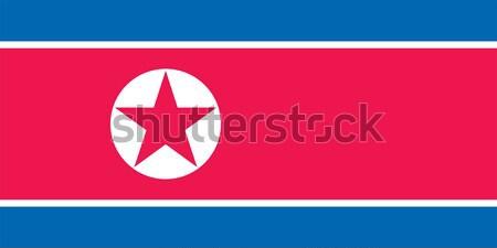 North Korea flag Stock photo © oxygen64