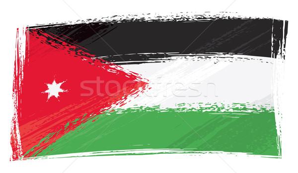 Grunge Jordan flag Stock photo © oxygen64