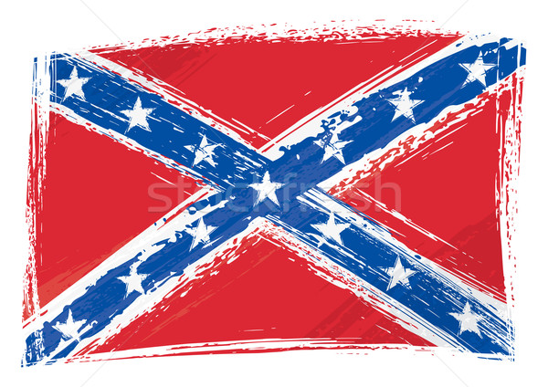 Grunge Confederate flag Stock photo © oxygen64