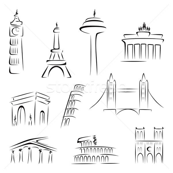Célèbre bâtiments monde bâtiment pont Photo stock © oxygen64