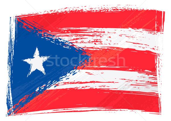 Grunge Puerto Rico zászló stílus Stock fotó © oxygen64