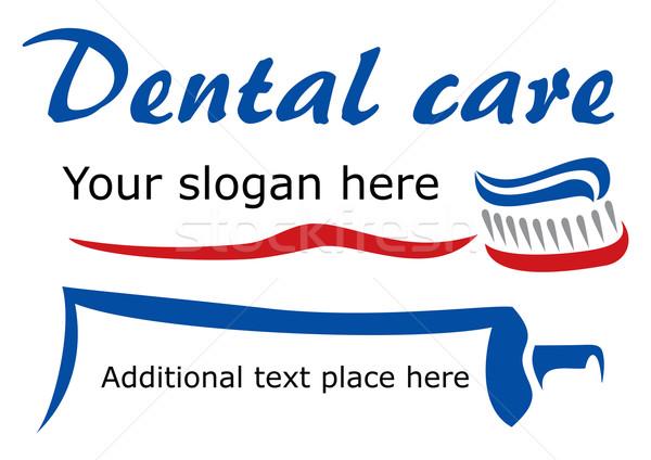 Diş fırçalamak dizayn diş bakımı şirket yalıtılmış Stok fotoğraf © oxygen64