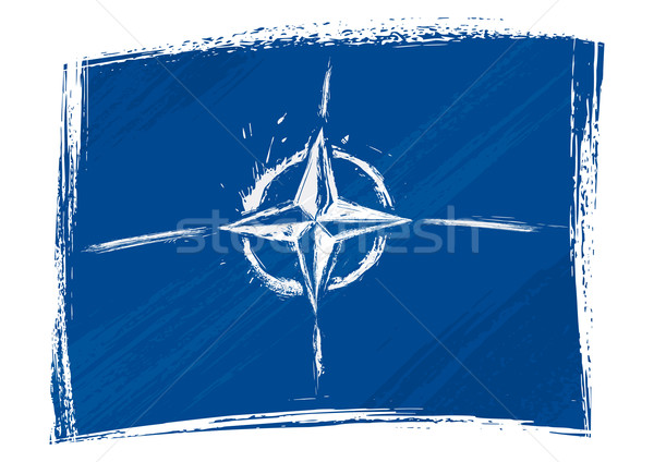 Grunge zászló stílus graffiti katonaság izolált Stock fotó © oxygen64