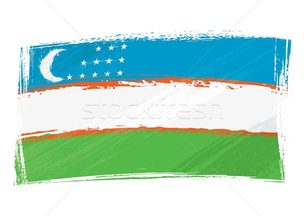 Grunge Üzbegisztán zászló stílus Stock fotó © oxygen64