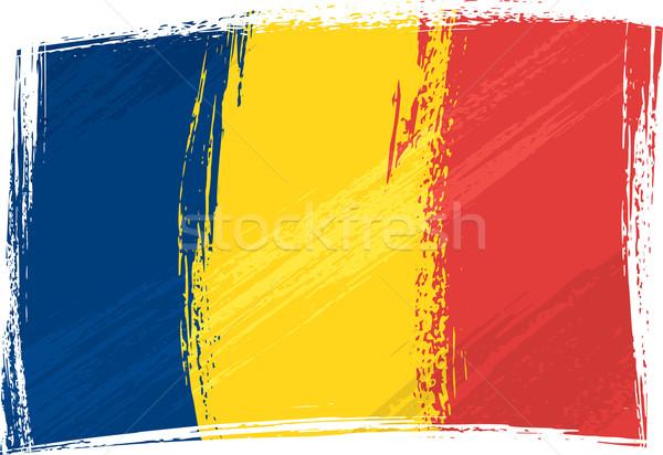 Grunge Chad bandera estilo azul Foto stock © oxygen64