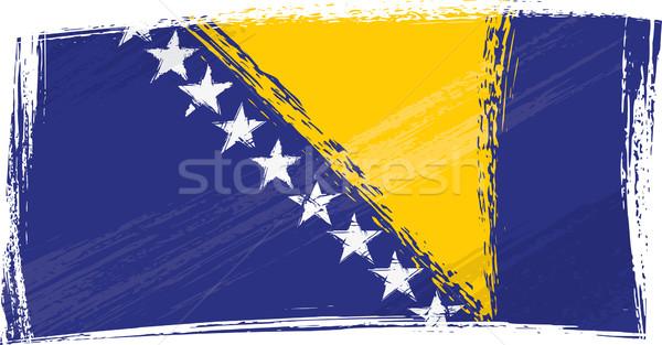 Grunge Bosnia Herzegovina bandera estilo fondo graffiti Foto stock © oxygen64