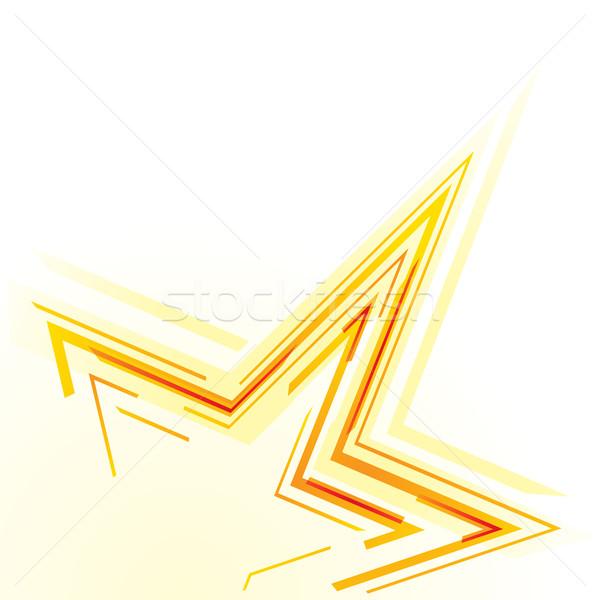 Star soyut parçalar Yıldız biçim parti Stok fotoğraf © oxygen64