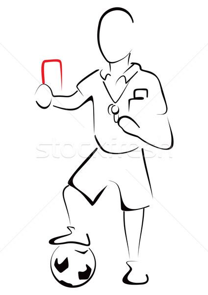 Futbol hakem kırmızı kart adam erkekler Stok fotoğraf © oxygen64