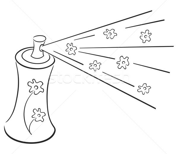 Desodorante símbolo spray aerossol nuvem frescura Foto stock © oxygen64