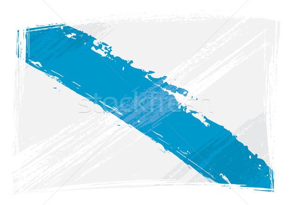 Grunge galicië vlag stijl achtergrond Stockfoto © oxygen64