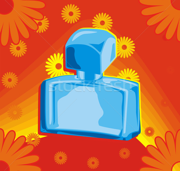 духи бутылку красный цветок цветы весны Сток-фото © oxygen64