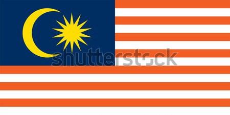 Malásia bandeira vetor Foto stock © oxygen64
