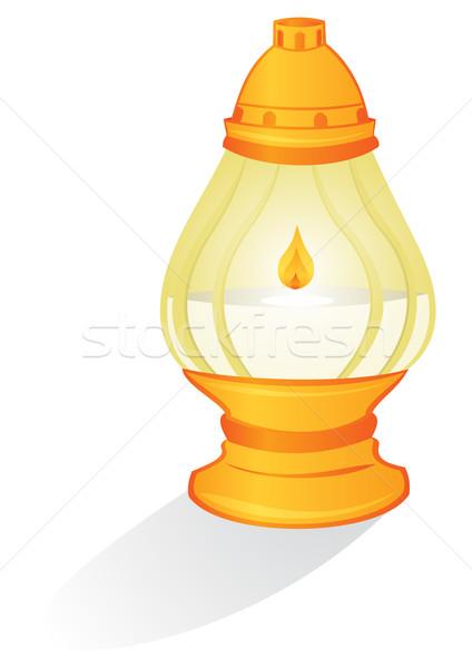 Ritual Kerze Illustration isoliert weiß Licht Stock foto © oxygen64