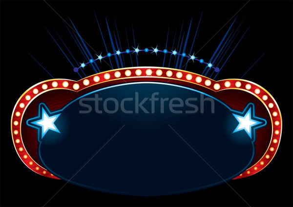 Montrent affiche design célébration magnifique événement Photo stock © oxygen64