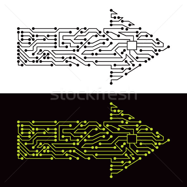 Electric scheme of arrow symbol Stock photo © oxygen64
