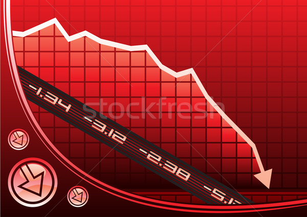 Recession on graph Stock photo © oxygen64