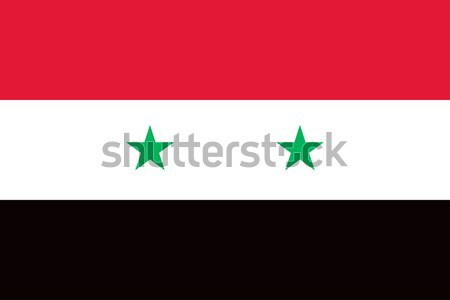Suriye bayrak vektör Arap cumhuriyet Stok fotoğraf © oxygen64