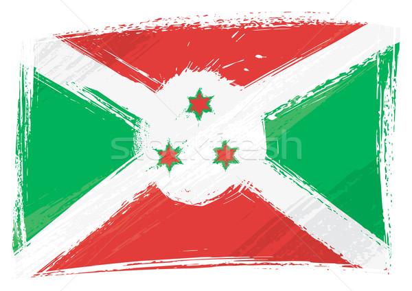 Grunge Burundi bandeira estilo Foto stock © oxygen64