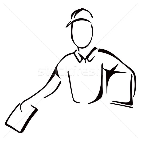 Teslim kroki örnek erkekler zarf Stok fotoğraf © oxygen64
