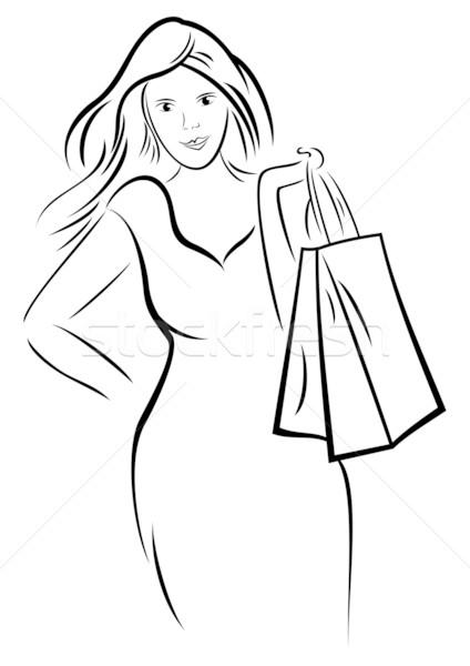 Stock photo: Woman shopping