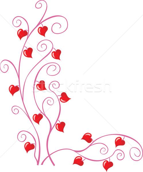 Virágmintás sarok minta kicsi szívek Valentin nap Stock fotó © oxygen64