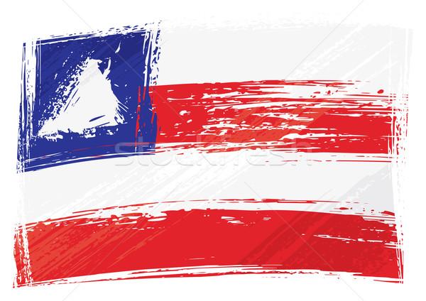 Foto stock: Grunge · bandeira · estilo · grafite · país · isolado