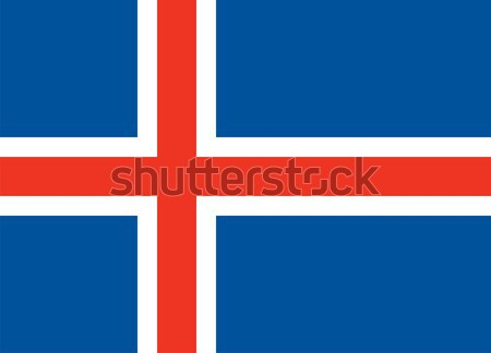 Iceland flag Stock photo © oxygen64